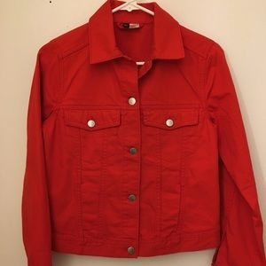 Divided Red Denim Jacket, W-XS by H&M
